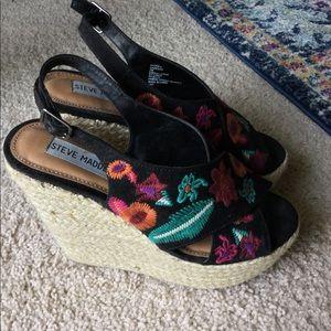 Steve Madden high wedge shoes